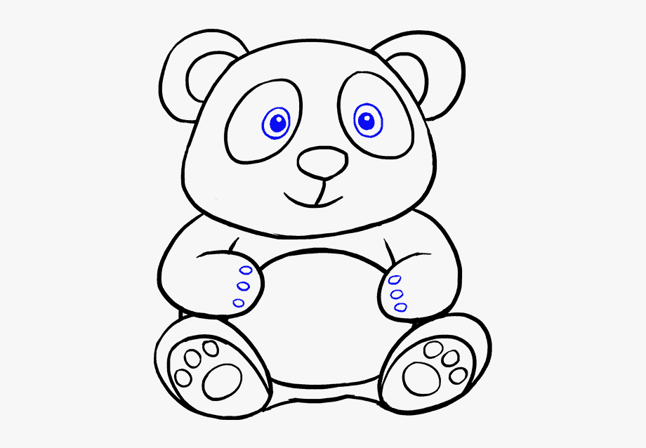 How To Draw Cartoon Panda Bear Cartoon Drawing Easy